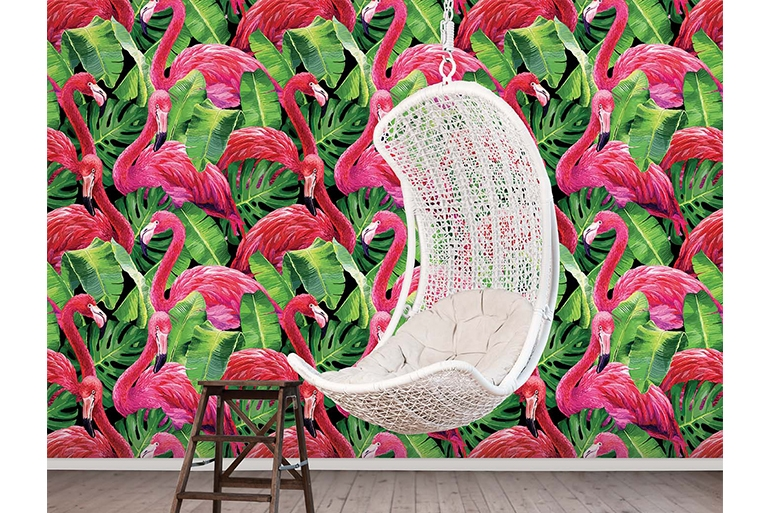 Global Fusion Wallpaper Essener Tapete Flamingo Tapete